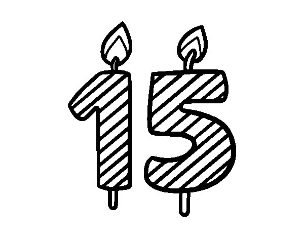 15 years old coloring page - Coloringcrew.com
