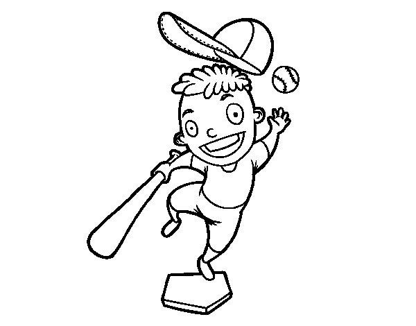 A baseball hitter coloring page