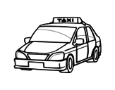 A cab coloring page