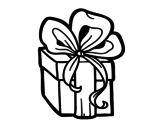 A Christmas gift coloring page