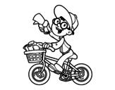 Dibujo de A deliveryman