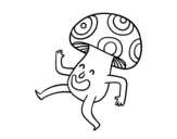 A Happy Mushroom coloring page