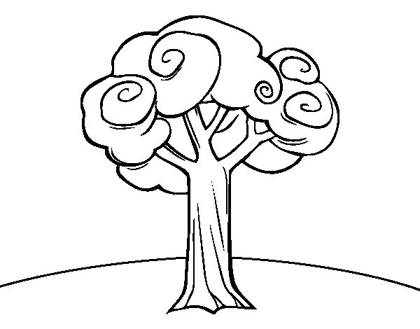 Large Trees Colouring Pages Big Tree Coloring Page