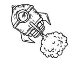 A rocket coloring page