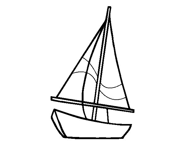 A Sailing Boat Coloring Page