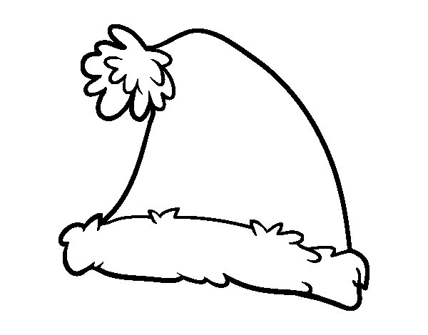 A santa claus christmas hat coloring page for Santa claus hat coloring page