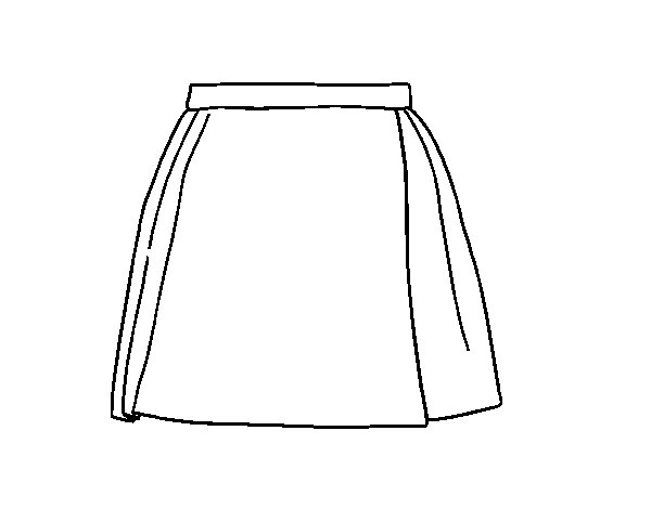 A skirt coloring page - Coloringcrew.com
