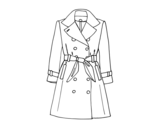 A trench coat coloring page