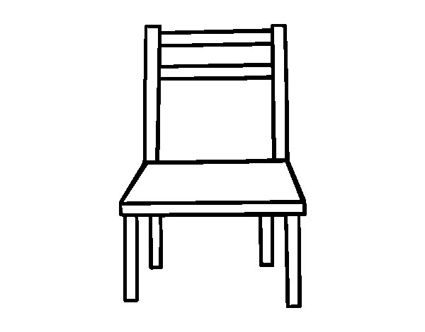 A Wooden Chair Coloring Page Coloringcrew Com