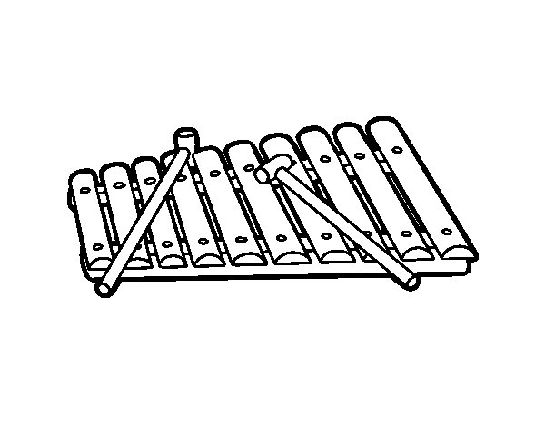 A xylophone coloring page - Coloringcrew.com