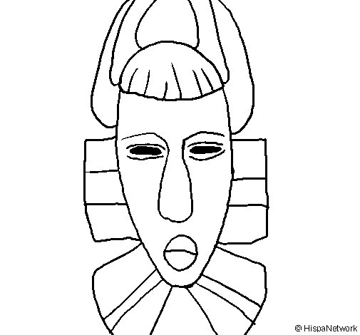 Printable African Masks Coloring Pages  Coloring Pages For Kids