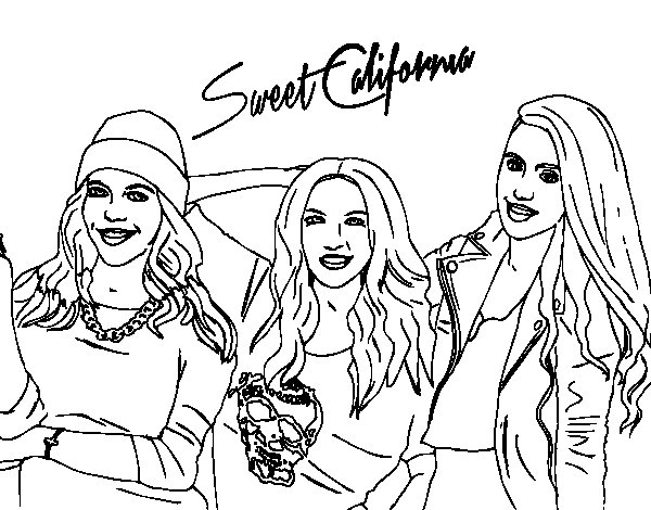Alba Rocio and Sonia of Sweet California coloring page