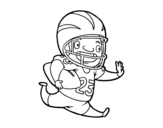 Dibujo de American football player