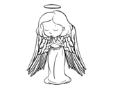 An angel praying coloring page
