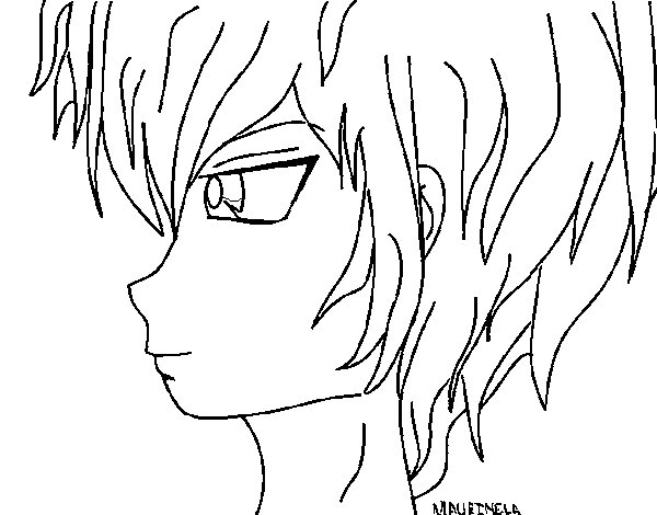 Free Coloring Pages Of Anmie Guys Anime Boy Coloring Pages