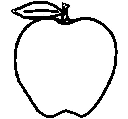apple coloring page  Coloringcrewcom