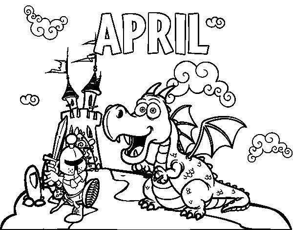 month of april coloring pages | April coloring page - Coloringcrew.com