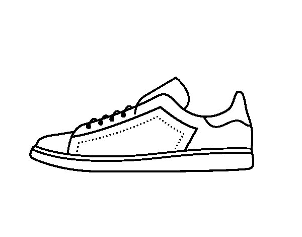 Athletic shoes coloring page