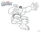 Dibujo de Avengers - Hulk