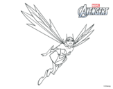 Avengers - Wasp coloring page