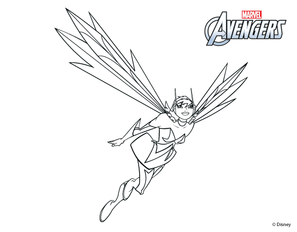 wasp avengers coloring pages - photo#21