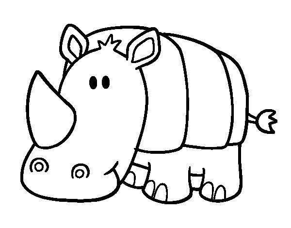 baby rhino coloring page coloringcrewcom