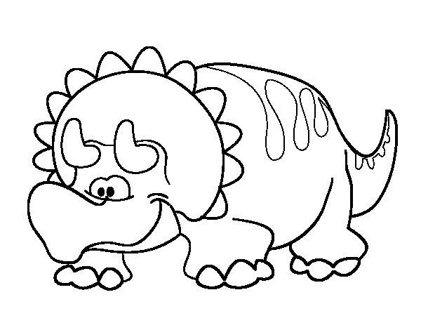 Niño Leyendo Un Libro Colouring Pages Page 2: Baby Triceratops Coloring Page