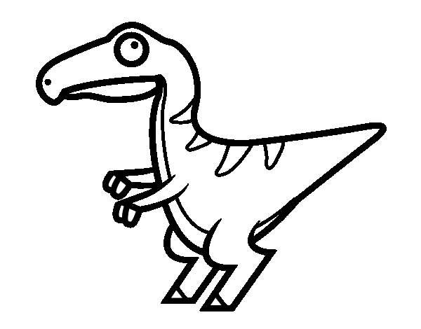 baby velociraptor coloring pages | Baby velociraptor coloring page - Coloringcrew.com