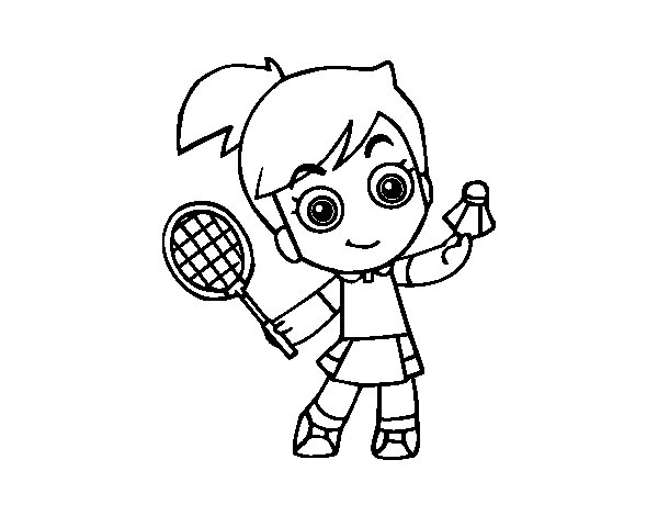 Badminton coloring page for Badminton coloring pages