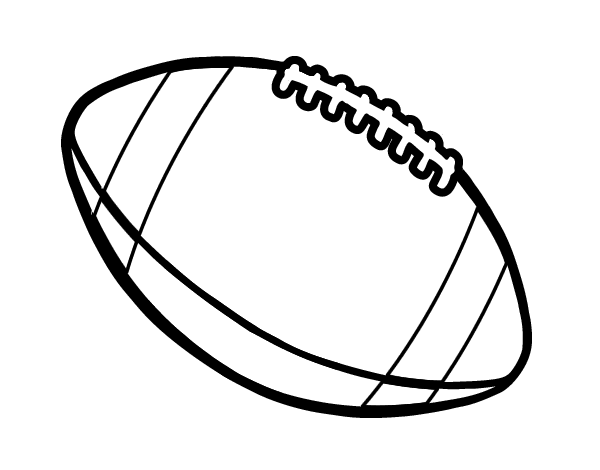 Ball of American football coloring page - Coloringcrew.com