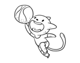 Dibujo de Basket cat