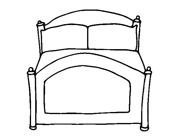 beds coloring pages - photo#7