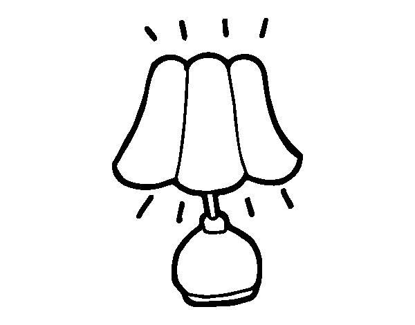 bedside lamp coloring page