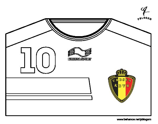 Belgium world cup 2014 t shirt coloring page for Belgium flag coloring page