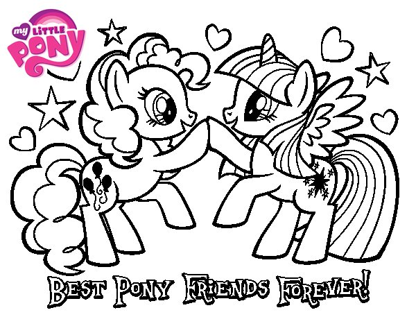 Dibujos Para Colorear Ponis Bebes: Best Pony Friends Forever Coloring Page
