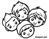 Big time Rush coloring page