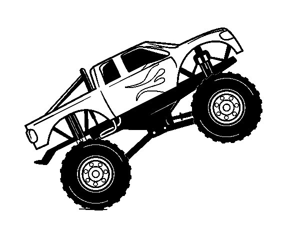 Bigfoot car coloring page