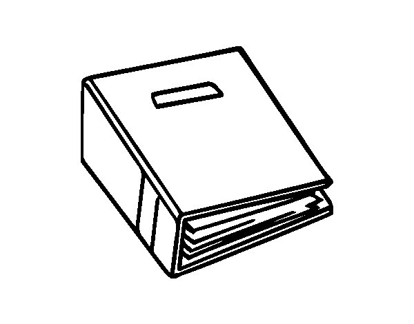 Binder coloring page for Binder coloring pages