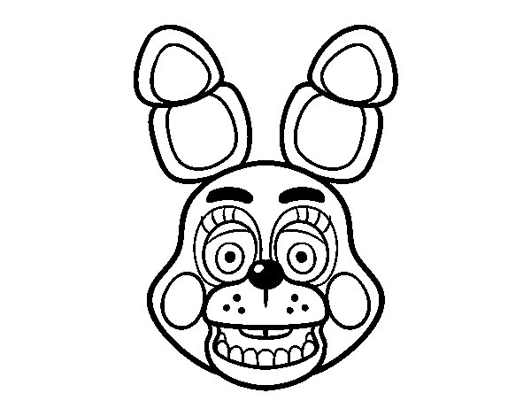 Bonnie The Bunny Coloring Pages Pictures To Pin On