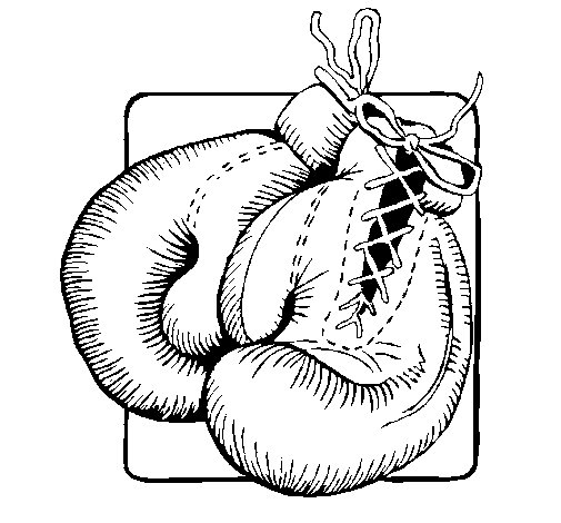 Boxing gloves coloring page