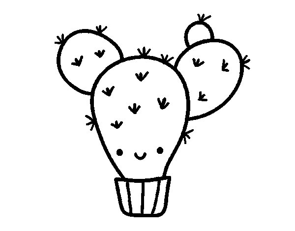 cactus pear coloring page click