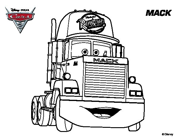 Coloring Pages Cars Mack : Disney cars mack coloring pages