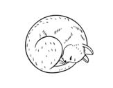 Dibujo de Cat posing