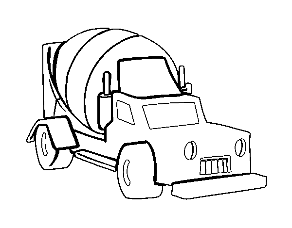 Cement Truck Coloring Pages Cement Mixer Truck Coloring