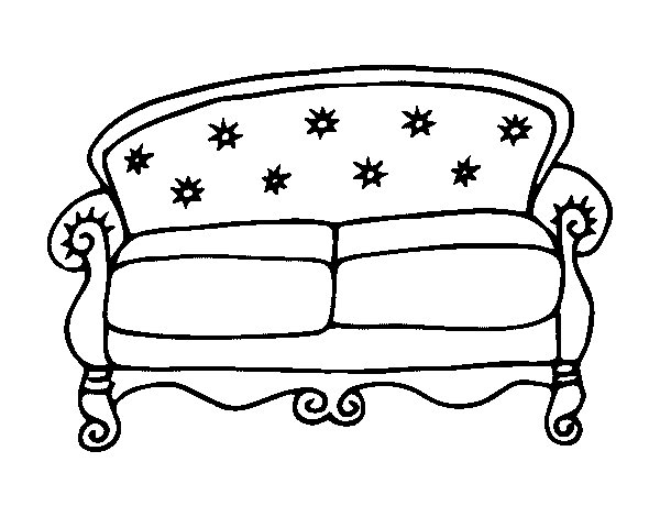 Sofa Coloring Pages Chesterfield couch coloring page - coloringcrew ...