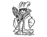 Chinese military Kong Ming coloring page