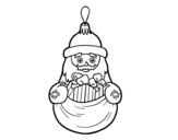 Christmas decoration Santa Claus coloring page