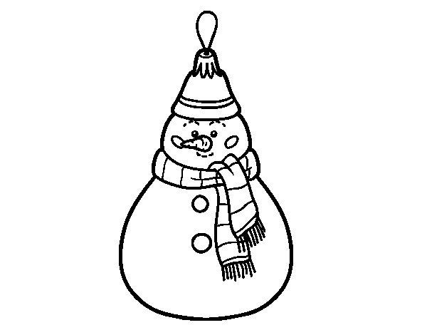 christmas decoration snowman coloring page coloringcrewcom