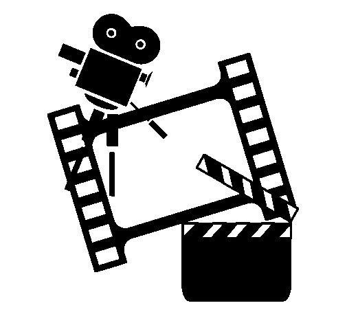 cinema coloring page