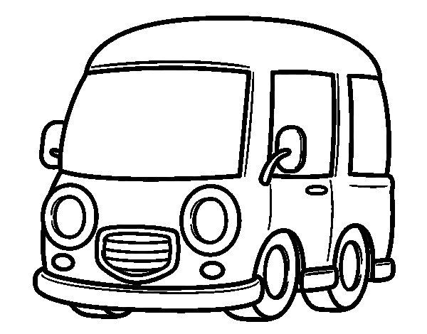 Van Coloring Page – images free download - Big delivery van coloring ...